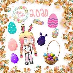 easter egg bunny freetoedit