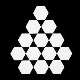 hexagons geometry geometrics bw blackandwhite freetoedit