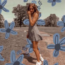 freetoedit vsco aesthetic blue flowers