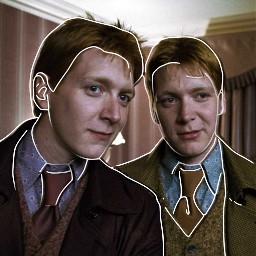harrypotter fredandgeorgeweasley love weasley