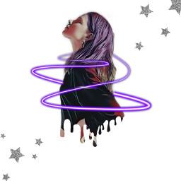 stars spiral neonspiral lady girl freetoedit rcdripart dripart