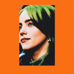 freetoedit billieeilish orange billie
