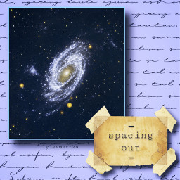 space blue collage spacingout note ircgalacticspiral freetoedit