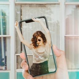freetoedit phone iphone selfie girl