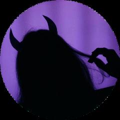 purple grunge skater devil shadow freetoedit