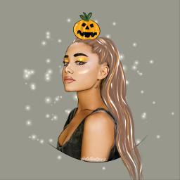 freetoedit arianagrandeedit pumpkinhead sparklelightbrush