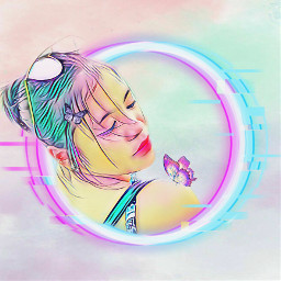 freetoedit butterfly neon pastel colourful