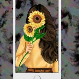 sunflowerselfie freetoedit