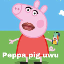 freetoedit peppapig itayvargas iphone piggy