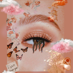 freetoedit clouds pink orange renaissance