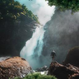 freetoedit heaven waterfall valley vacation