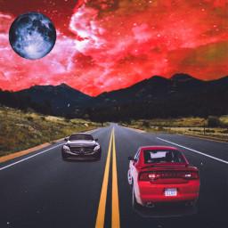freetoedit cars mountainlyfe moon madewithpicsart