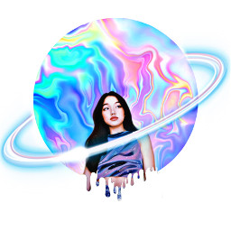freetoedit drippyart colors galaxycircle woman