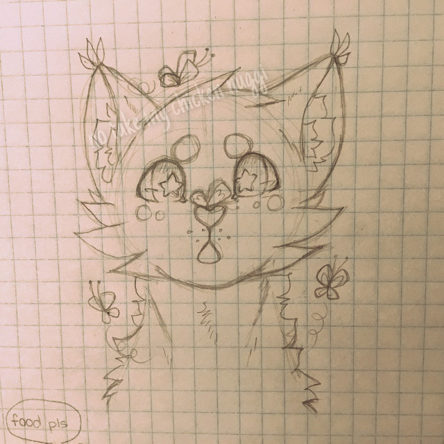 (´∀`=) #art #furry #wolf #butterfly #outline #pencilart #draw #drawing