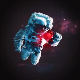 surreal astronaut heart cosmic papicks freetoedit
