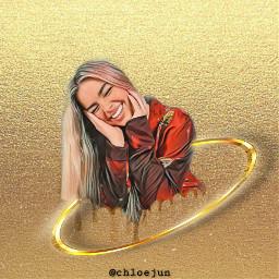 freetoedit addisonrae gold glitter addi