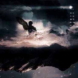 freetoedit girl shadow wing blackwing