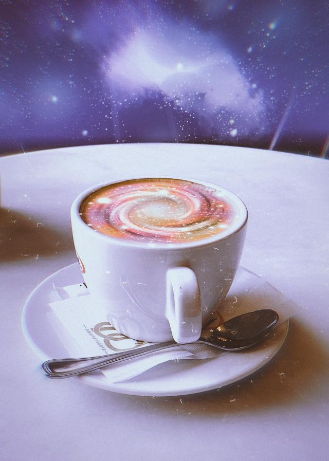 #coffee #cup #galaxy  #freetoedit