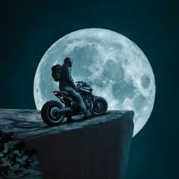 freetoedit night moon rider alone