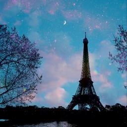 freetoedit silhouettes sky eiffeltower