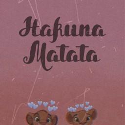 freetoedit hakunamatata simba lionking