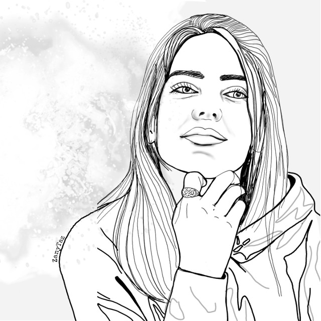 #outlineart #outline #outlinedrawing #sketch #coloringbook #illustration #person #lineart #line_art #celebrity #billieeilish #people #blackandwhite #freetoedit