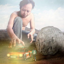 freetoedit manipulasi car globe wonderfull