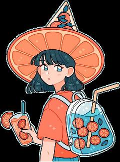 freetoedit orange hat backpack bag