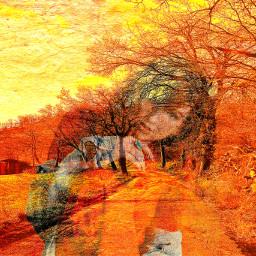 myedit multiexposure colorchange nature reflection freetoedit