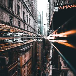 city cars street upsidedown urban