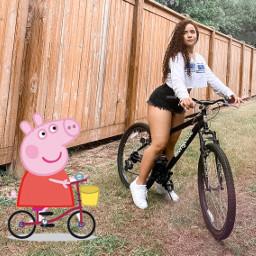 freetoedit peppapig bikes ride or