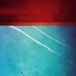 streetlight sky abstract bluesky vaportrail