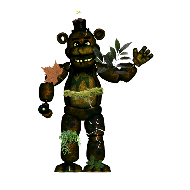 Overgrown Freddy #fnaf #overgrown #freetoedit