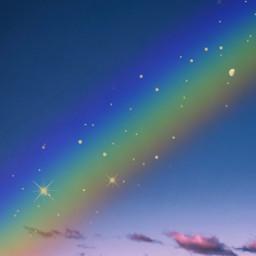 sky skies raimbow glitterrainbow clouds freetoedit