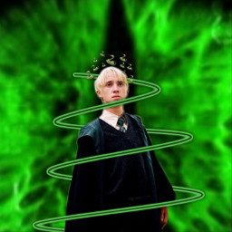 harrypotter dracomalfoy green snakecrown freetoedit