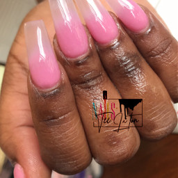 bookme nailsbyteelaton ombrenails pinkombre clearombre daytonnailtech