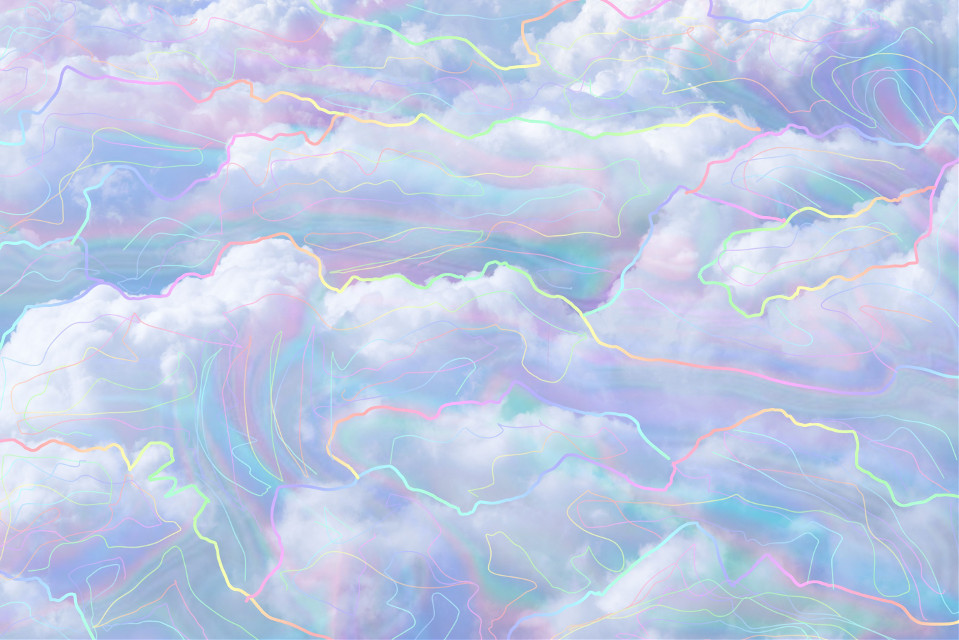 #freetoedit #clouds #pastel #trace #background #white #colorful