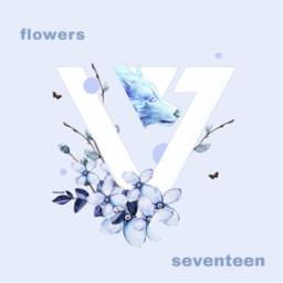 seventeen logo logodesign flowers blue