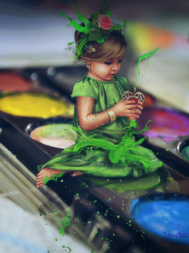#vipshoutout @kinora #green #paint #freetoedit