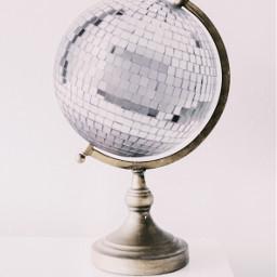 dance world globe mirrorball disco