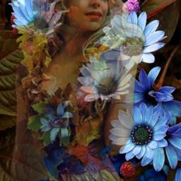 freetoedit myedit woman flowers