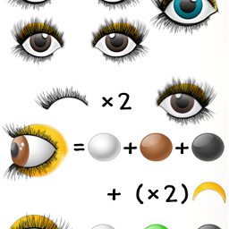 diy tutorial eyes yeux oeil freetoedit