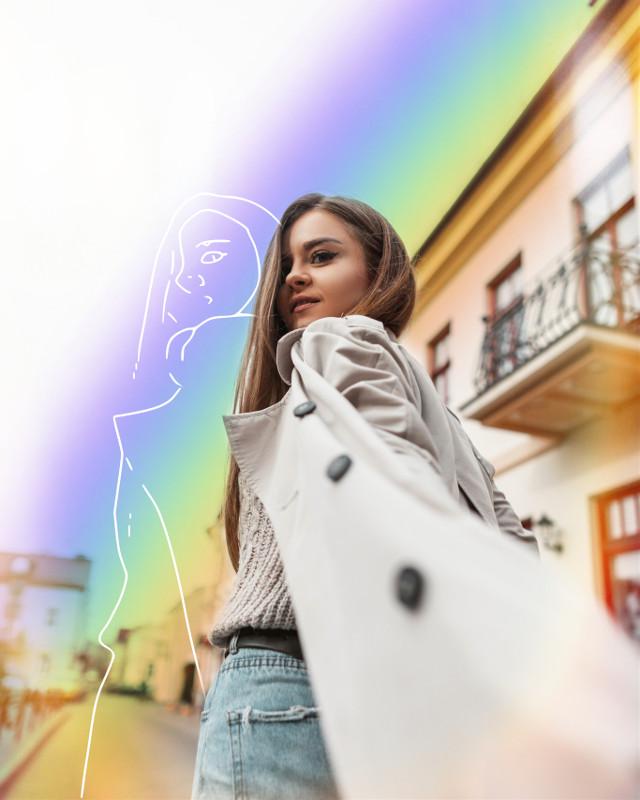 #freetoedit #rainbow #sketch #sketcheffect #rainbowlight