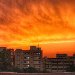 sunset eveningphotography orange orangeisthenewblack picsart
