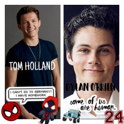 freetoedit dylano'brien tomholland stiles peter