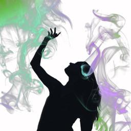freetoedit silhouettechallenge sillhouette smoke green ircsunsetsilhouette sunsetsilhouette
