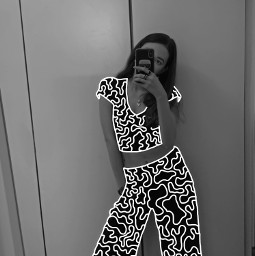freetoedit clothes girl lines blackandwhite