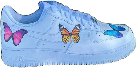 #freetoedit #nike #airforceone #butterfly #blue #pink #orange #shoes