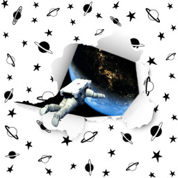 freetoedit space astronaut twoworlds planets