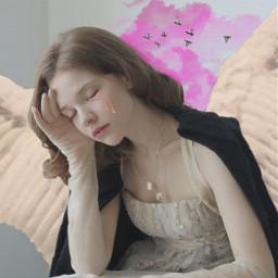 freetoedit wings angel tears sad